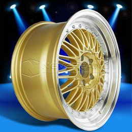 Wholesale 2015 New x Car Alloy Wheels Rim Gold Machined Lip for MAZDA RX7 RX8 Offset USA Stock
