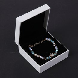 Mix colors Cardboard Jewelry Set Boxes for Necklace Earring Ring Rectangle Jewellery Jewelry box cases Display beads bracelet box