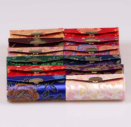 jewelry box,Chinese traditional gift box mixed color, silk box with mirror sold per bag of 10 pcs