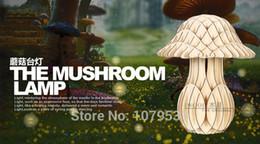 Simple Modern Fashion Original Mushroom Wood Creative Bedside Lamp Bedroom Table Lamp For Sitting Room