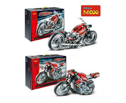 Wholesale DECOOL Technic Model Riding Cycle Motorcycle Exploiture Model Building Blocks toy set for Baby birthday gifts