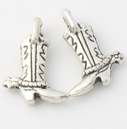 Wholesale MIC Antique Silver Cowboy Star Boots Charms Pendants Jewelry DIY L390 x13mm Hot Sell Findings