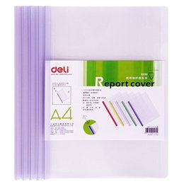 Wholesale Office PVC transparent report cover and spine bar filing products for business and school Deli