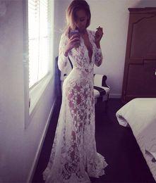 Women Vestidos Hippie Boho Embroidered Floral Bohemian Sexy Lace Crochet Beach Wear long dress White Maxi Dress Vestidos