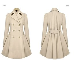 Hot Sale New Fashion 2015 Autumn Women Trench Coat Slim Turn-down Collar Long Sleeve Casual Winer Overcoat Free Shipping NZ014