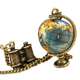 HOT Selling Fashionable and Pretty Globe Telescope Travel Necklace Sweater Chain Necklace