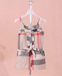 New Hot kids summer clothes hot selling girls cotton jumpsuit girls fashion khaki siamese shorts A6274