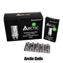 Wholesale 100 Original Horizon Arctic BTDC II Ni TC Tank Coils ohm Sub Ohm Replacement Coils