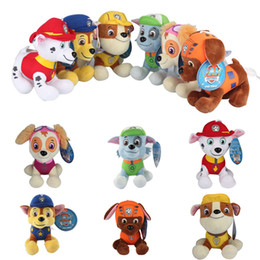 Wholesale 12cm Patrol Plush Dolls Skye Marshall Chase Zuma Rocky Rubble Paw Figure Puppy Stuffed Soft Dolls Toys