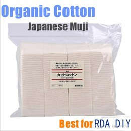 Wholesale 2015 wicking japanese cotton muji organic cotton unbleached cotton Pad Wick Nature Cotton for rda rba Atomizer coil build Rebuildable DIY
