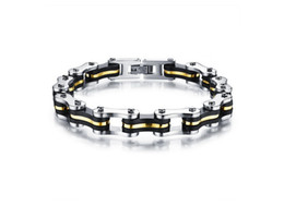 Hot Bicycle Chain Bracelet Mens Titanium Stainless Steel Wholesale Jewelry Gold Silver Fashion Jewelry Free Shipping