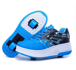 Wholesale The new children adult children roller skates Heely boys girls Sneakers with wheels Zapatillas Con Ruedas automatically skating shoes