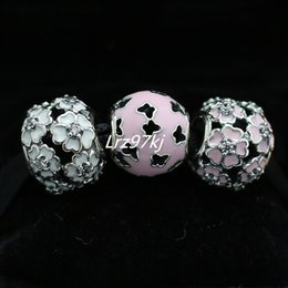 100% 925 Sterling Silver Charms and Murano Glass Bead Set Fits European Pandora Jewelry Charm Bracelets-DS001
