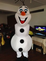 2015 New Deluxe Frozen Snowman Olaf Mascot Costume Movie Cartoon Halloween Party Costumes Fancy Dress100% Real Pictures