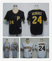 Wholesale Baseball Jerseys Pirates Men ALVAREZ white Black Grey Jerseys stitched Top quality Mix Order Free Fast Shipping