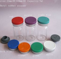 wholesale 7ml clear glass vials with flip off caps & rubber stoppers, 7 cc injection glass bottle, pharmaceutical bottle