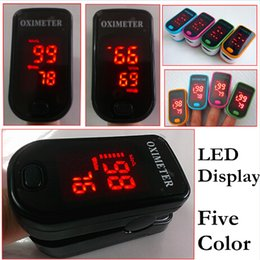 Wholesale Cool color LED Display Fingertip pulsioximetro oxymetre Pulse Oximeter SPO2 Pulse Rate Oxygen Monitor Pulsi oximetro