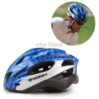 Wholesale-New MOON Brand Lightweight Bicycle Accessories Cycling  All-in-One Mountain Bike Men Helmet , Original Version , Blue + White