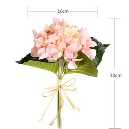 Wholesale 12 Tall Flower head colors White Hydrangea artificial flowers for Outdoor bride holding wedding floral business home garden Decoration