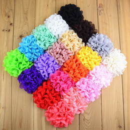 New Style 50pcs Kids Hair Flower WITHOUT CLIP 3.94in Girls Hair Fabric Fire-finished Rim Rose Headband DIY Accessories