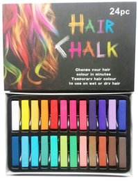 Wholesale 24 Colors Fashion Hair Chalk Fashion Color Hair Chalk Dye Pastels Temporary Pastel Hair Extension Dye Chalk Cheap Hot Crayons