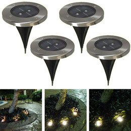 Brillante 2LED al aire libre solar tierra lámpara Nueva LED jardín césped luz Solar Powered Powered by Google desde fabricantes