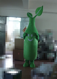 Wholesale Real Picture Plants Vs Zombies Plant Mascot Costume Game Animation Cartoon Clothing Green Body Plant Cartoon Costume