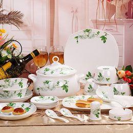 China réglé 56 en Ligne-Rack rose jingdezhen céramique bone china vaisselle réglé 56 micro-ondes de l'ensemble de mariage