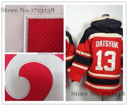 2016 New, Cheap Stitched Detroit ice hockey hoodie Youth #13 Pavel Datsyuk Jersey Hockey Hoodies Sweatshirts Size S-XL