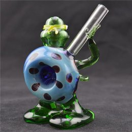 Wholesale Mini Glass Pipe quot Ninja Turtle Oil Concentrate Pipe Hand Glass Smoking Pipes Oil Burner Glass Bong Oil Rig Alien Pipe Tobacco Pipe