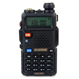 BaoFeng UV-5R Dual Band Dual Display Dual Standby Handheld Walkie Talkie UHF+VHF DTMF Two-Way Radio Transceiver Color Black