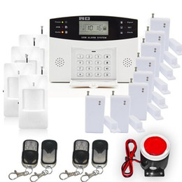 2016 New SF-9908LCD Multi_Functional Home Security GSM Alarm System Kit with Smoke Fire Alarm