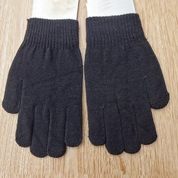 Wholesale-New Men and Women Cotton Knitted Winter Warm Gloves Lover's Mittens Free Size ST717-32