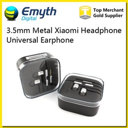 Wholesale 3 mm Metal Xiaomi Headphone Universal Earphone Noise Cancelling In Ear Headset with Remote Mic and Volume Control earphone For iPhone