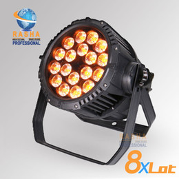 Wholesale 8X Freeshipping IP65 Waterproof Quad in1 RGBW RGBA Super bright LED Par Light Quad LED Par Can DJ Par Light Disco Lighting