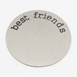 22.5MM best friend plates for 30mm round locket 316L Stainless steel Silver plates for 30mm round locket(only plate)
