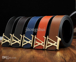 Wholesale New famous Thicken genuine leather colors men Belts luxury brand Buckle Original boss Jeans men strap designer belts