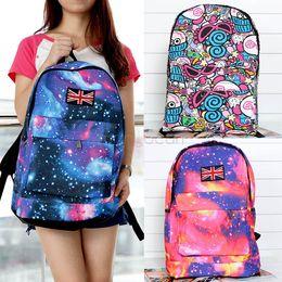 New Fashion Unisex Galaxy Pattern Design Print Canvas Backpack Schoolbag Shoulders Travel Leisure Backpack SV17 SV008339