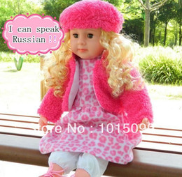 Wholesale Fast delivery NEW Smart baby toy speak Russian Will say the story Can sing dolls for girls electronic toys birthday gift