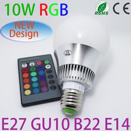 Wholesale RGB LED Lamp Innovative items W W W W E27 led Bulb Lamp with Remote Control led lighting colourful change factory