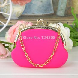 Wholesale-free shipping Silicone Coin Purse Lovely Pouch Silicone Chain Bag Japanese Style Silicone Wallet Purse 20pcs Lot