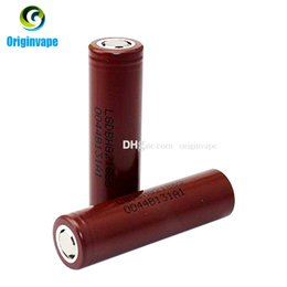 Wholesale Original LG HG2 Battery mAh A MAX Rechargable Lithium Batteries VS Sony VTC5 VTC4 LG HG2 HE2 HE4 Battery Fedex