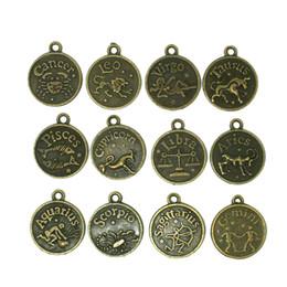 Wholesale 180pcs Mix Zodiac Signs Anti Bronze mm Alloy Capricorn Aquarius Pisces Aries Taurus Gemini Cancer Leo Virgo Scorpio Sagittarius Charms