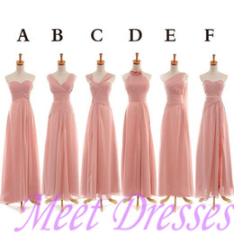 Peach Pink Bridesmaid Dress 2015 Modest Long Juniors One Shoulder Bridesmaid Dresses For Different Maids Brides Dresses Party Gowns