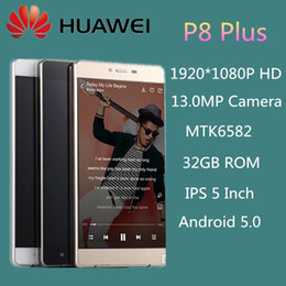 Wholesale unlocked cellphone Huawei P8 Plus Phone Inch Smartphone P HD MTK6582 GB ROM Android MP Camera wifi GPS