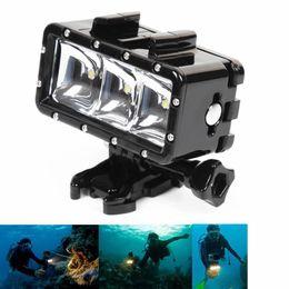 Wholesale New Go Pro Waterproof LED flash video light Underwater Diving Light For GoPro Hero4 SJ4000 Xiaomi Yi SJCAM Cam