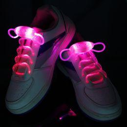 50pcs (2pcs=1pair) third generation Colorful fashion led shoelace Fiber Optic LED Shoe laces shoelaces neon led flashing shoelace strong
