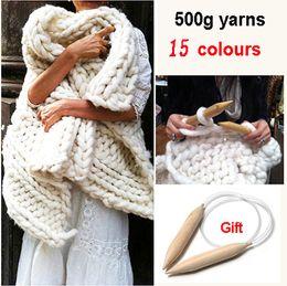 Wholesale Super Thick Yarns Scarf blanket BIG knit Yarn High Grade Thick hat Yarn For Hand Knitting Wool Blend yarn crochet Yarn g Free gift