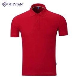 Wholesale 2016 Summer New Cotton Polo Shirt Solid Color Lapel Short sleeved T shirt Wicking Short Sleeve Men And Women