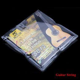 SC12 Guitare Six Cordes Nylon Argent Placage Set Super Light pour guitare classique acoustique 6pcs / set super string guitars on sale à partir de guitares à cordes de super fournisseurs
